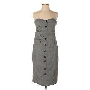 Anthropologie Floreat Doubly Adorned Plaid Dress
